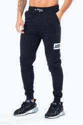 HYPE BLACK JUST HYPE STRIPE MENS JOGGERS