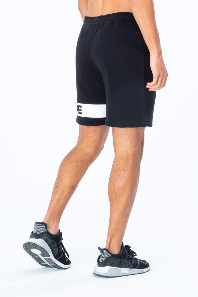 HYPE BLACK WHITE JUST HYPE STRIPE MENS SHORTS