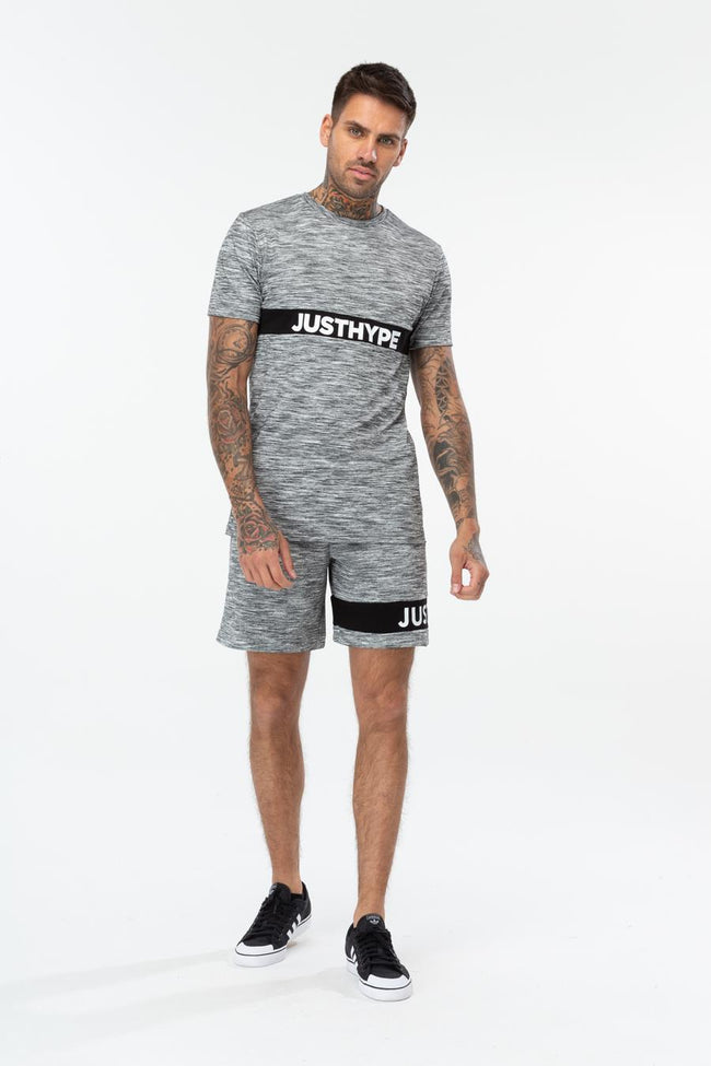 HYPE GREY JUST HYPE STRIPE MEN'S SHORTS