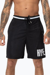 HYPE BLACK RETRO SPORTS BLOCK MEN'S SHORTS