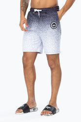 HYPE BLACK SPECKLE FADE CREST MEN'S SHORTS