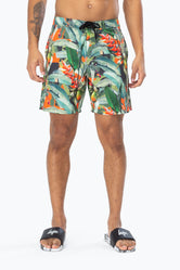 HYPE TROPICAL CAMO MENS BOARD SHORTS