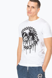 HYPE WHITE DRIP CREST MEN'S T-SHIRT