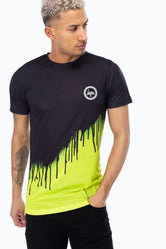 HYPE BLACK LIME DRIPS MEN'S T-SHIRT