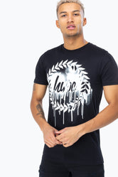 HYPE BLACK DRIP CREST MEN'S T-SHIRT