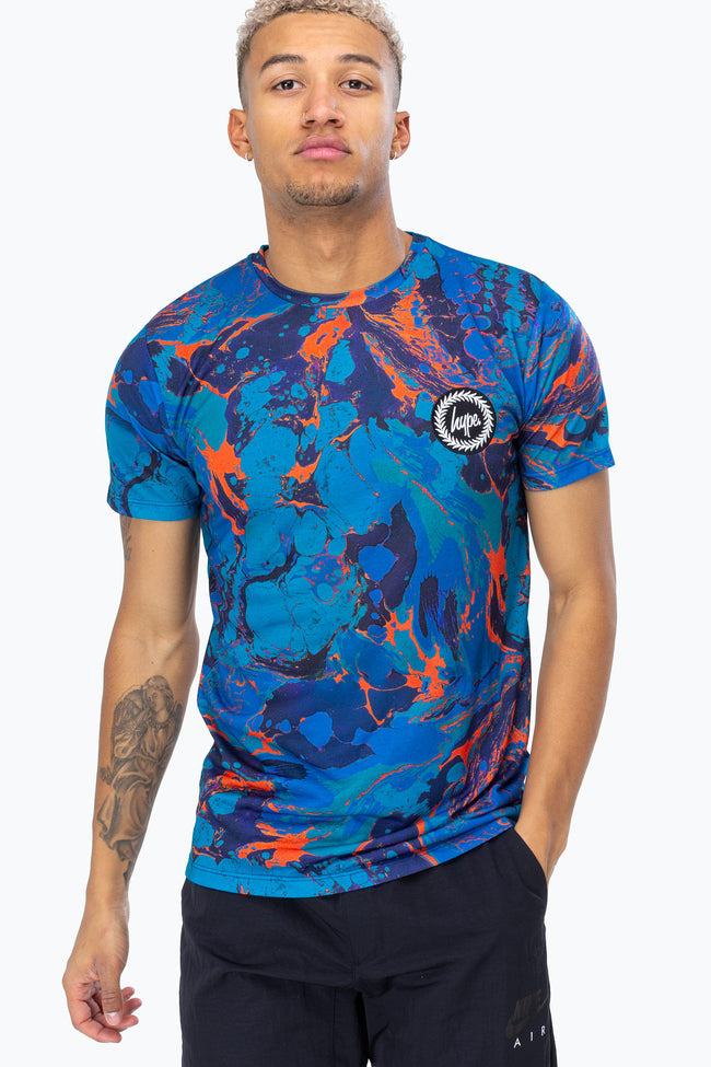HYPE ORANGE PEARL CREST MENS T-SHIRT