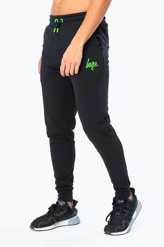 HYPE BLACK NEON SCRIPT MEN'S JOGGERS