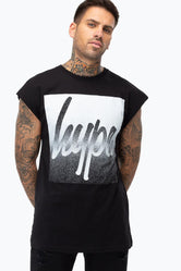HYPE BLACK SPECKLE BOX SCRIPT MEN'S SLEEVELESS T-SHIRT