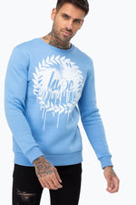 HYPE BLUE DRIP CREST MENS CREW NECK