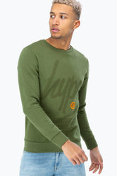 HYPE KHAKI REGISTERED SCRIPT MEN'S CREWNECK