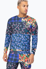 HYPE PATCHWORK MENS CREW NECK