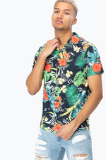 HYPE ALOHA ZEBRA MEN'S HAWAIIAN SHIRT
