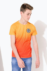 HYPE ORANGE SPECKLE FADE CREST KIDS T-SHIRT