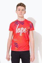 HYPE RED RED PALM CREST KIDS T-SHIRT