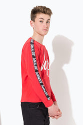 HYPE RED TAYLOR TAPE KIDS L/S T-SHIRT