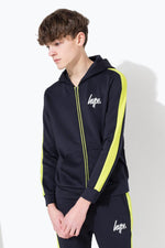HYPE NAVY MINI SCRIPT STRIPE KIDS TRACK JACKET