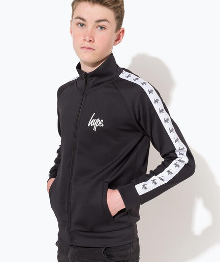 HYPE BLACK MINI SCRIPT TAPE KIDS TRACK JACKET