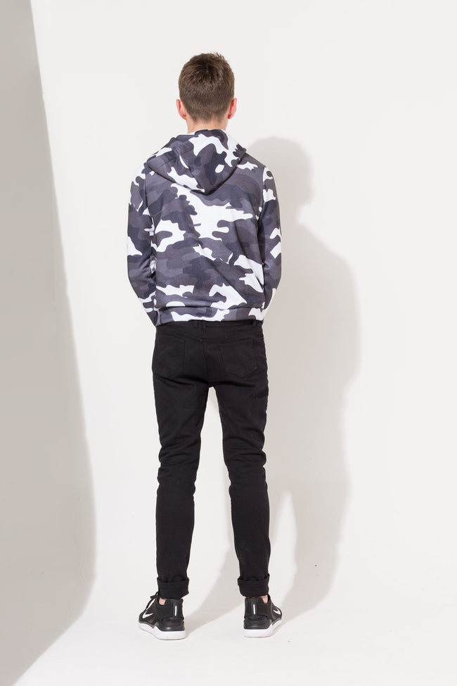 HYPE MONO CAMO KIDS PULLOVER HOODIE