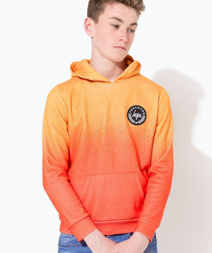 HYPE ORANGE SPECKLE FADE CREST KIDS PULLOVER HOODIE