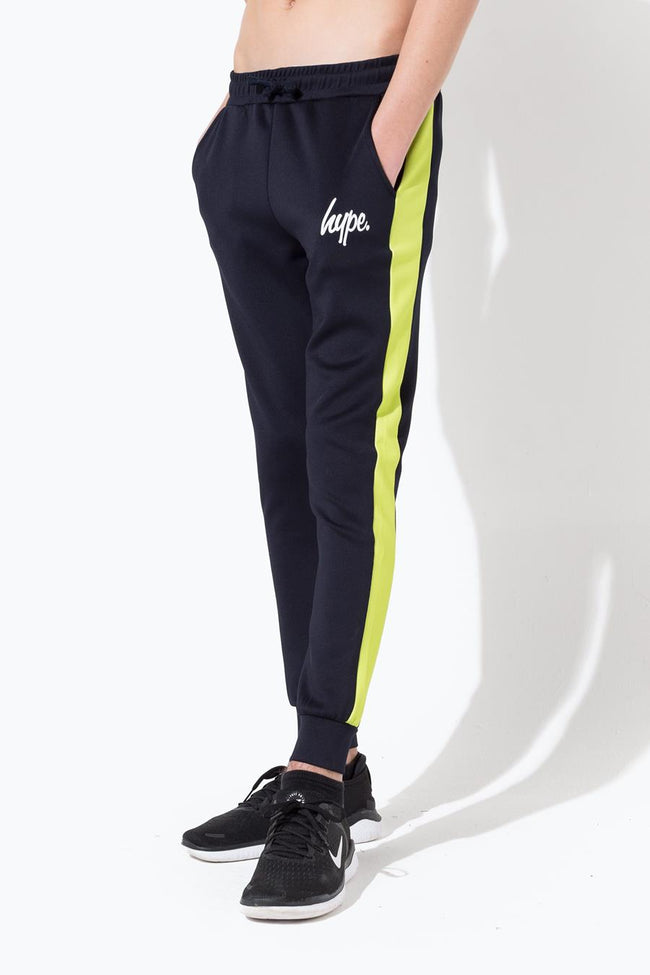 HYPE NAVY MINI SCRIPT STRIPE KIDS JOGGERS