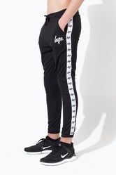 HYPE BLACK MINI SCRIPT TAPE KIDS TRACK PANTS