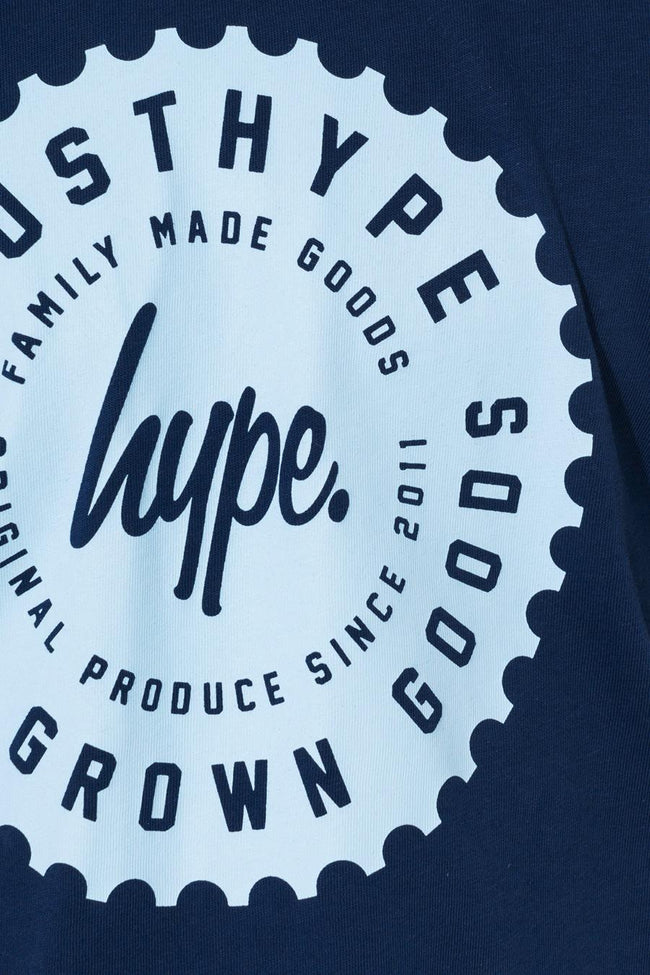 HYPE NAVY COG LOGO KIDS T-SHIRT