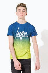 HYPE NAVY SPECKLE FADE SCRIPT KIDS T-SHIRT