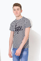 HYPE BLACK CHECKERBOARD SCRIPT KIDS T-SHIRT