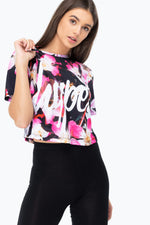 HYPE THESE FLOWERS WOMEN'S CROP T-SHIRT