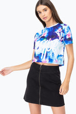 HYPE MIDNIGHT FOREST WOMEN'S CROP T-SHIRT