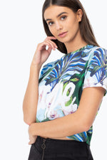 HYPE TROPICS SCRIPT WOMENS CROP T-SHIRT