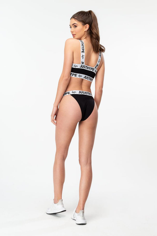 HYPE BLACK JUST HYPE TAPE WOMENS BRIEFS
