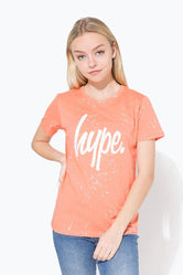 HYPE PEACH SPLAT SCRIPT KIDS T-SHIRT