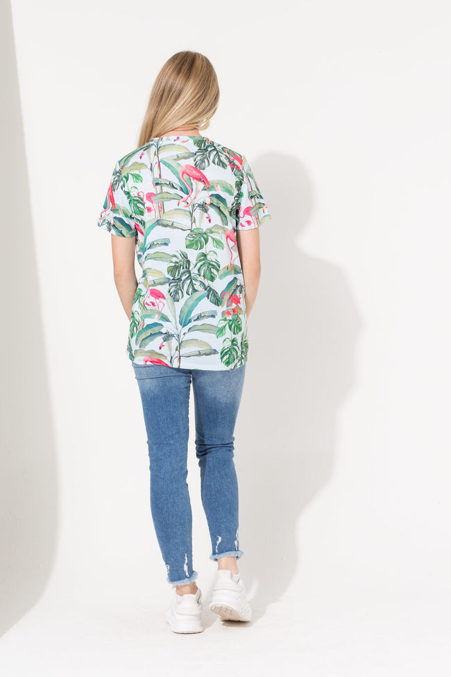 HYPE FLAMINGO PARADISE SCRIPT KIDS T-SHIRT