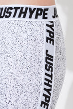 HYPE BLACK SPECKLE FADE TAPE KIDS LEGGINGS