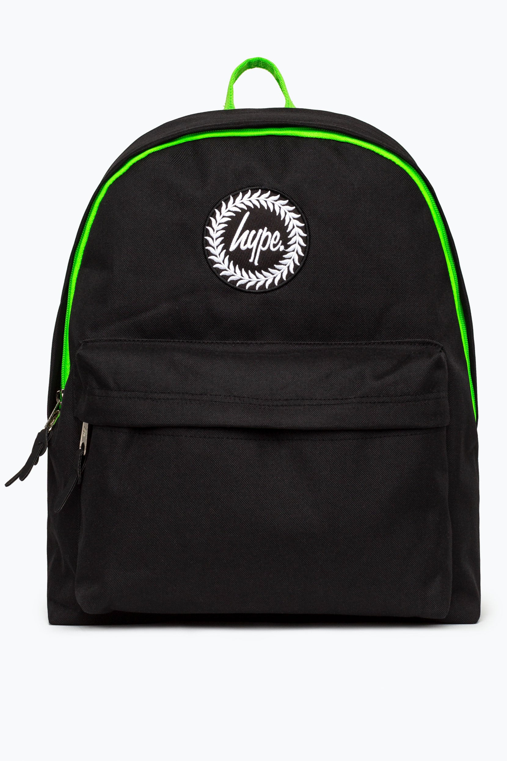 349e4acacab7 HYPE BLACK GREEN NEON FLASH BACKPACK – JustHype ltd