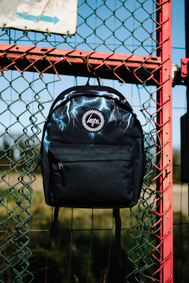 HYPE BLACK NEON LIGHTNING BACKPACK