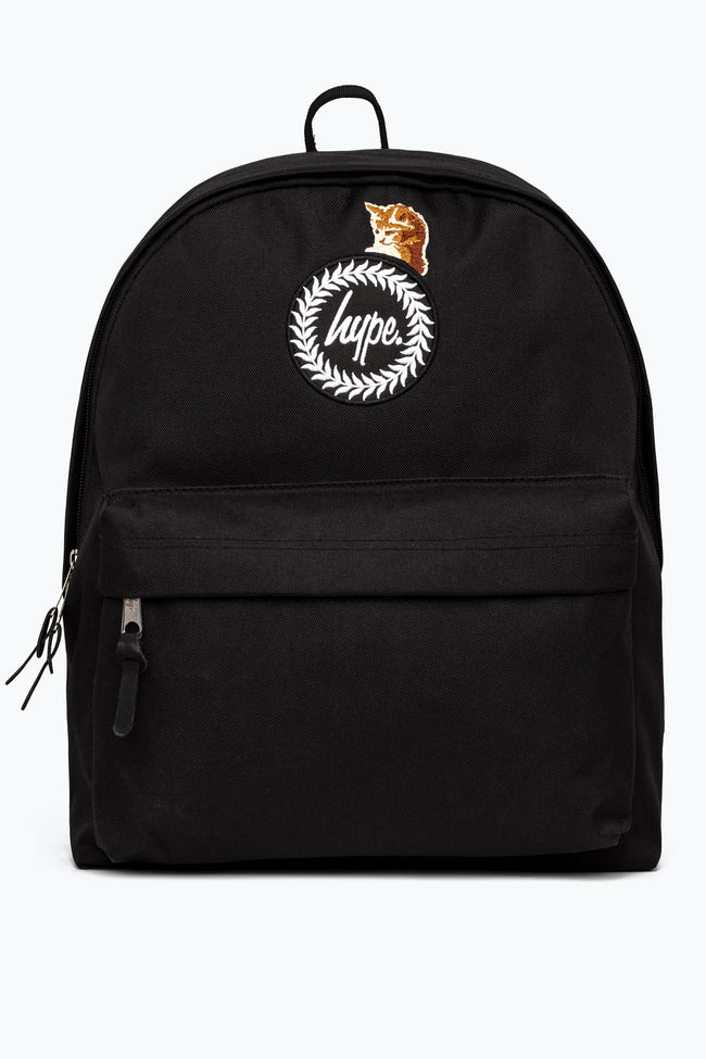 HYPE BLACK KITTY CAT CREST BACKPACK