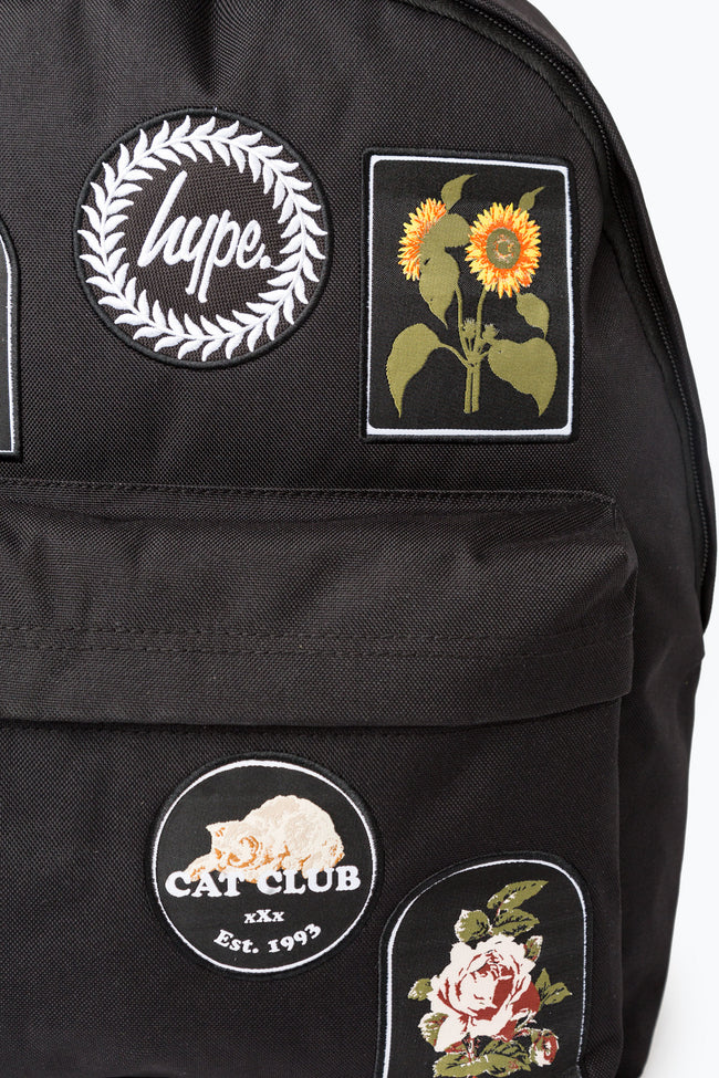 HYPE BLACK IN BLOOM PATCHES BACKPACK