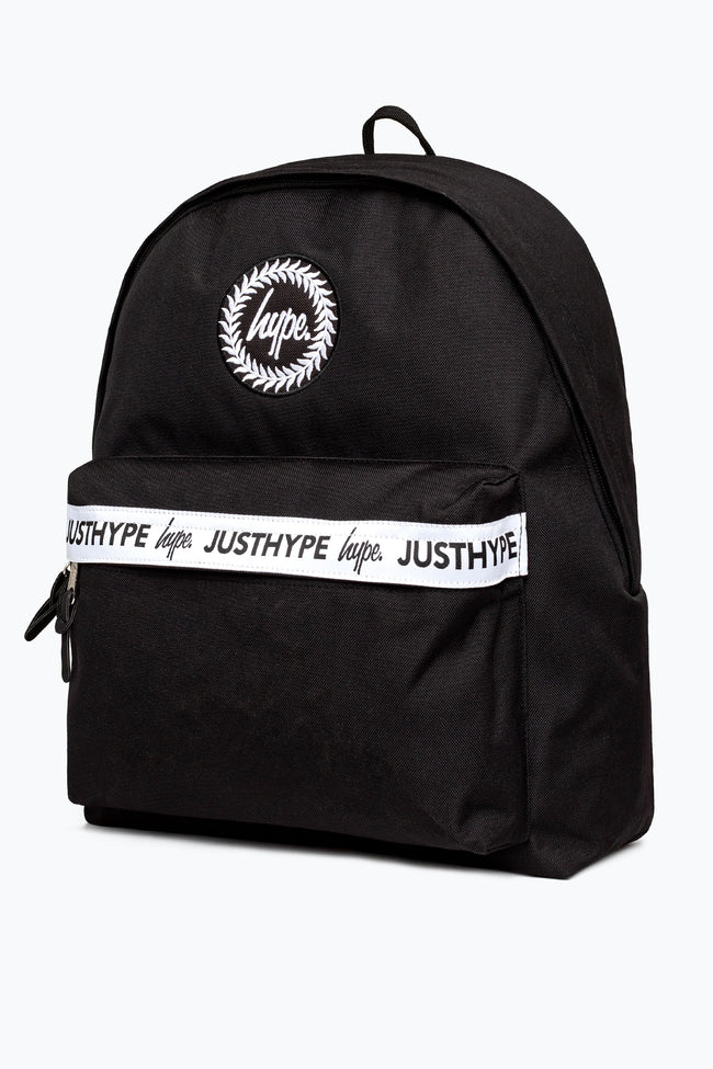 HYPE BLACK DOUBLE SCRIPT TAPING BACKPACK