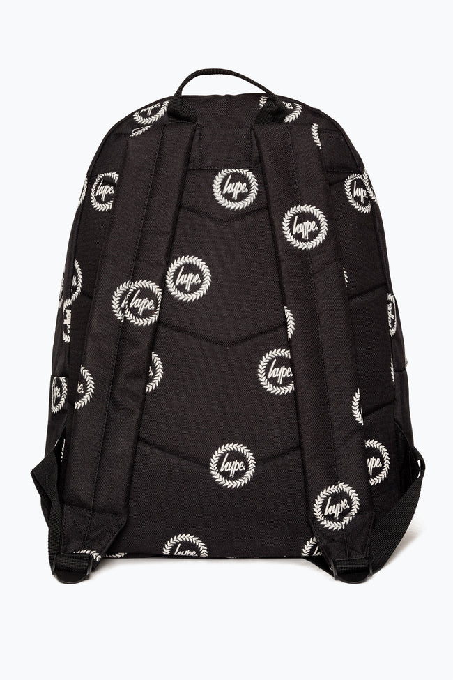 HYPE BLACK REFLECTIVE REPEAT CREST BACKPACK