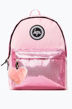 HYPE PINK ORCHID SEQUINS POM POM  BACKPACK