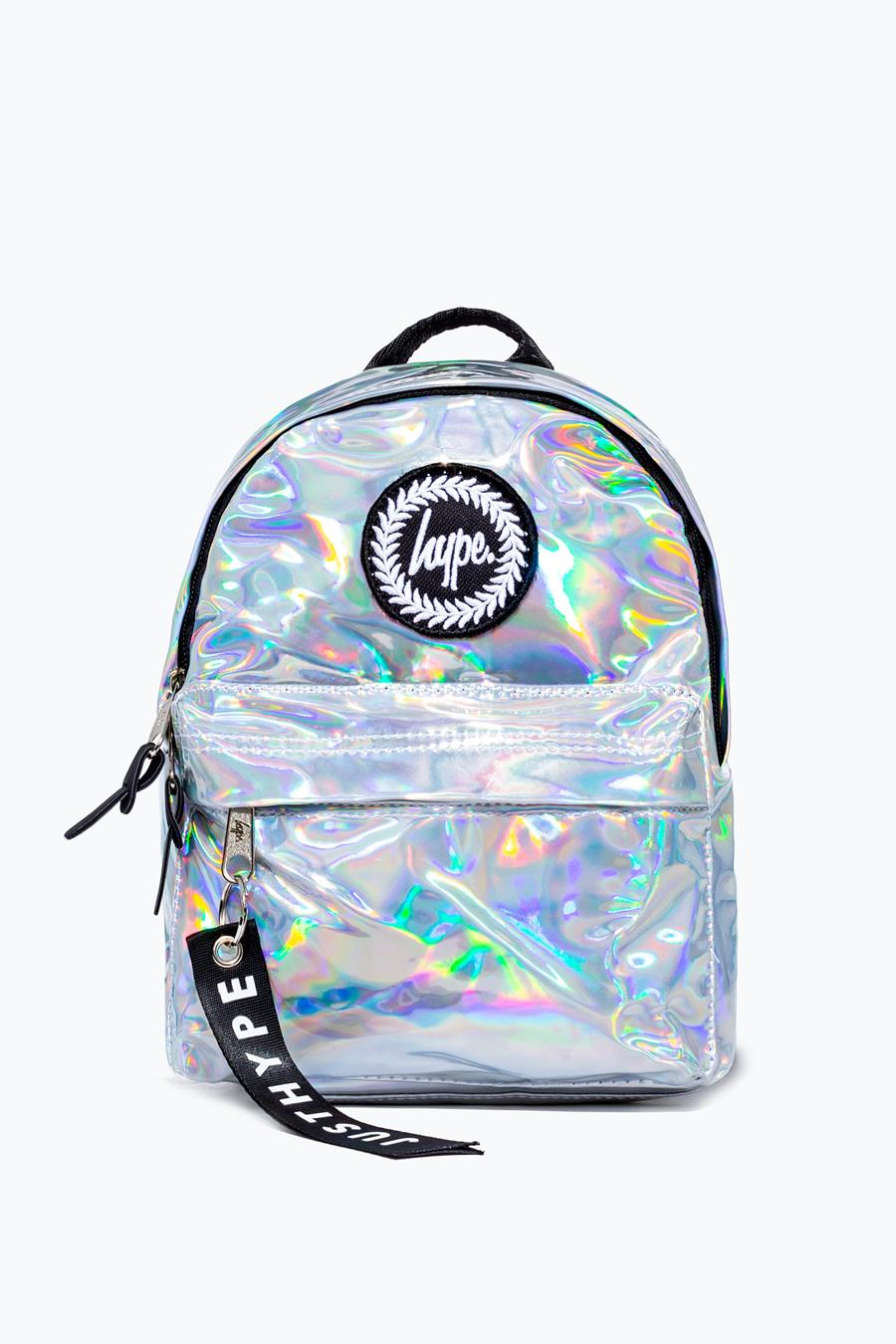 order best cheapest price HYPE SILVER HOLOGRAPHIC MINI BACKPACK