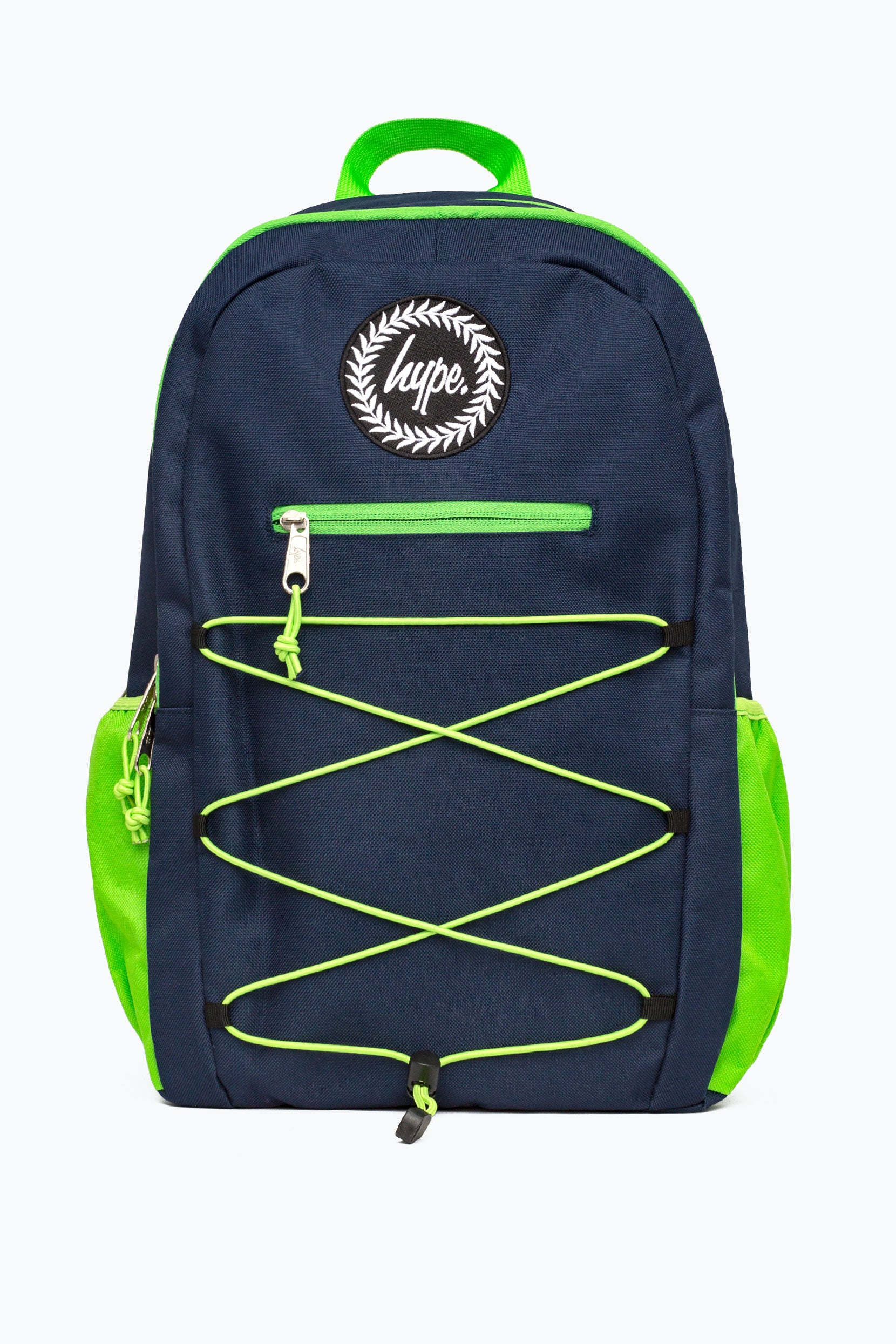 a158bd45ac88 HYPE NAVY GREEN NEON FLASH MAXI BACKPACK – JustHype ltd