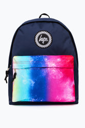 HYPE NAVY RAINBOW FADE POCKET BACKPACK