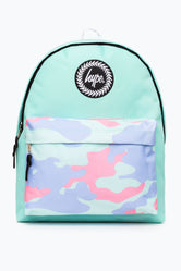 HYPE MINT PASTEL CAMO POCKET BACKPACK