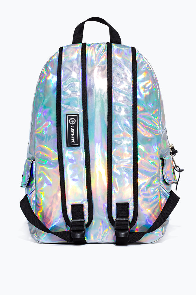 HYPE SILVER HOLOGRAPHIC MIDI BACKPACK