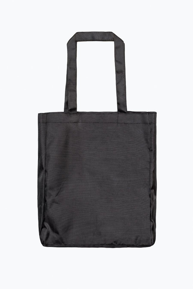HYPE BLACK WHITE SCRIPT TOTE BAG