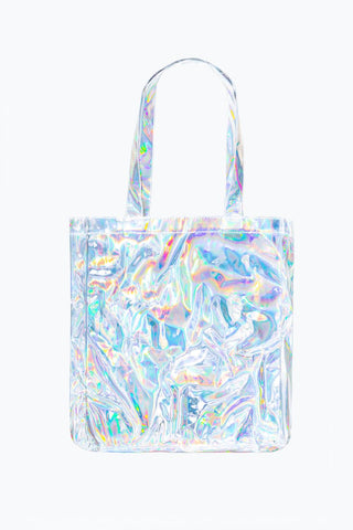 HYPE SILVER HOLOGRAPHIC TOTE BAG