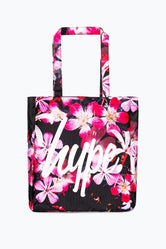 HYPE PINK FLORAL TOTE BAG